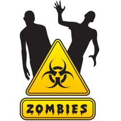 Adhesivo de pared zombies
