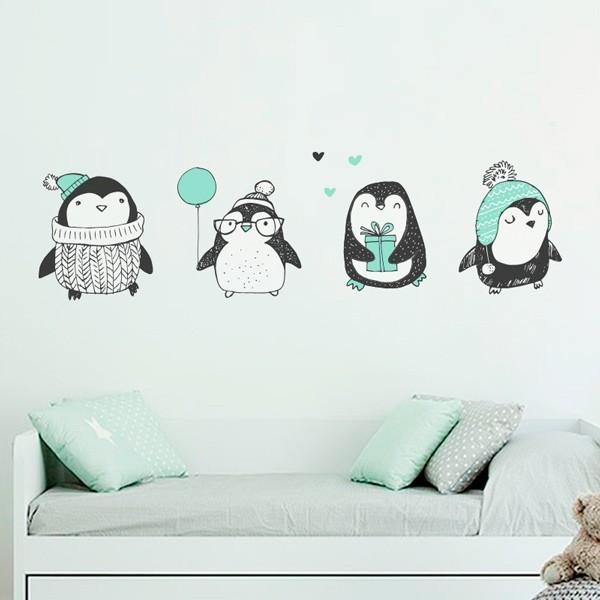 Vinilo infantil de pingüinos 1
