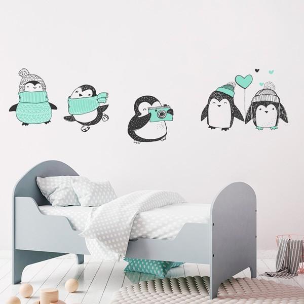 Decorativo infantil de pingüinos