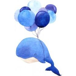 Vinilo infantil de ballena