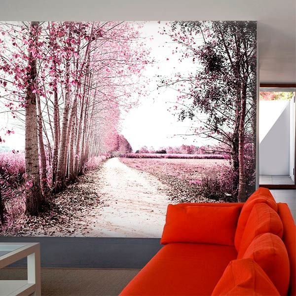 Mural decorativo paisaje de otoño