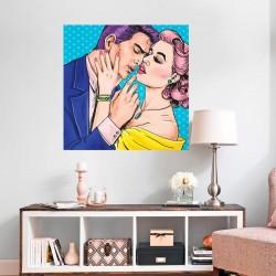 Vinilo pop art enamorados