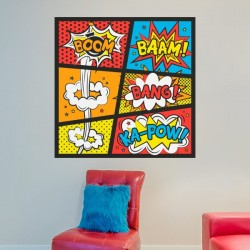 Vinilo pop art boom-bang