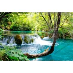 Mural decorativo río con cascada