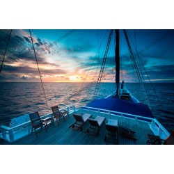 Fotomural puesta de sol en el océano