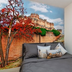 Mural de pared castillo...