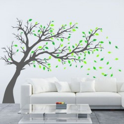 Adhesivo de pared árbol 17