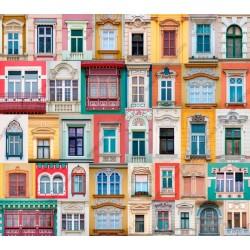 Fotomural ventanas de colores