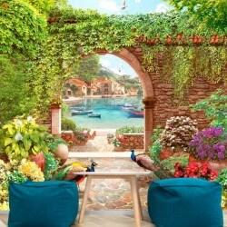 Mural decorativo jardín de...