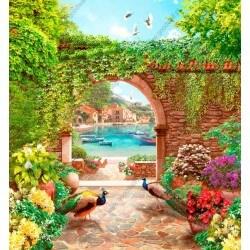 Mural decorativo jardín de colores