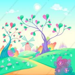 Fotomural árboles con corazones