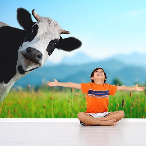 Mural en vinilo vaca