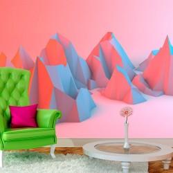 Mural en vinilo montes 3D