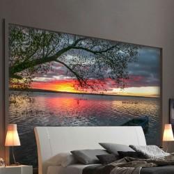 Mural en vinilo puesta del sol