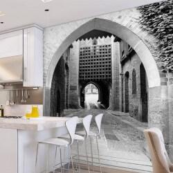 Fotomural puerta de castillo