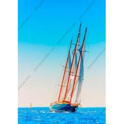 Fotomural barco de vela