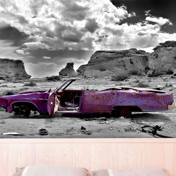 Fotomural coche desguazado