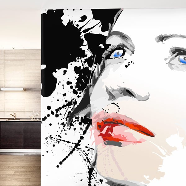 Fotomural ilustración de mujer