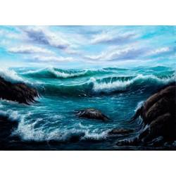 Fotomural mar en acuarela