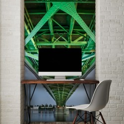 Fotomural puente verde