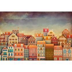 Fotomural casas de colores