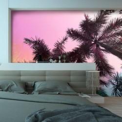 Mural en vinilo palmeras