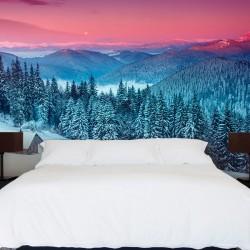 Mural en vinilo nieve