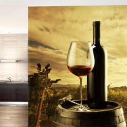 Mural de pared copa de vino