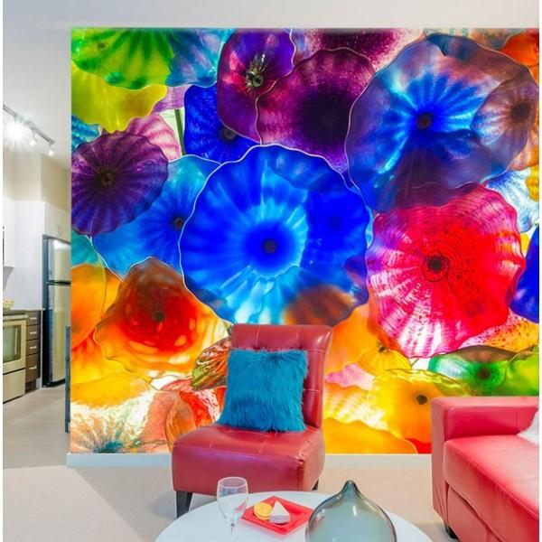 Mural en vinilo flores