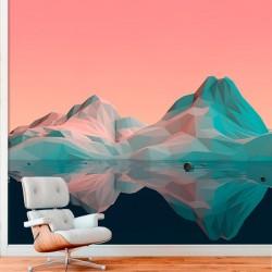 Mural en vinilo montaña 3D