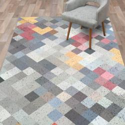 Alfombra vinilo cubos de colores
