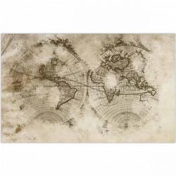 Alfombra vinilo mapamundi vintage