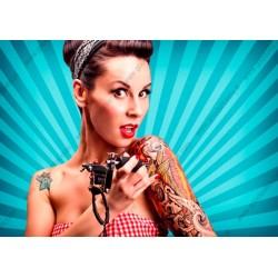 Fotomural mujer tatuada