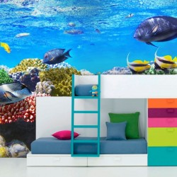 Mural decorativo fondo marino