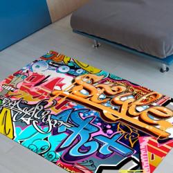 Alfombra de vinilo graffiti Style