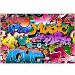 Alfombra de vinilo graffiti Music