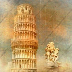 Mural en vinilo torre de Pisa