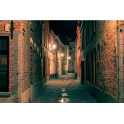 Fotomural calles por la noche