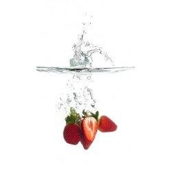 Vinilo decorativo fresas en agua