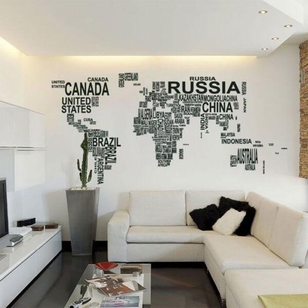 Mapa del mundo vinilos decorativos fotomurales y textos for Vinilo mapa del mundo