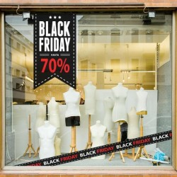 Adhesivo black friday hasta 70