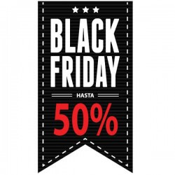 Adhesivo black friday hasta 50