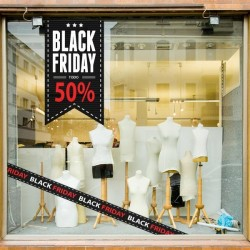 Adhesivo black friday todo 50