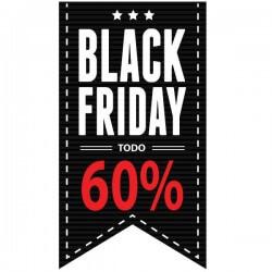 Adhesivo black friday todo 60