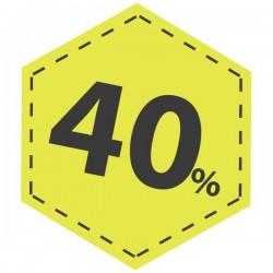 Adhesivo descuento 40 en amarillo