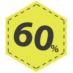 Vinilo descuento 60 en amarillo