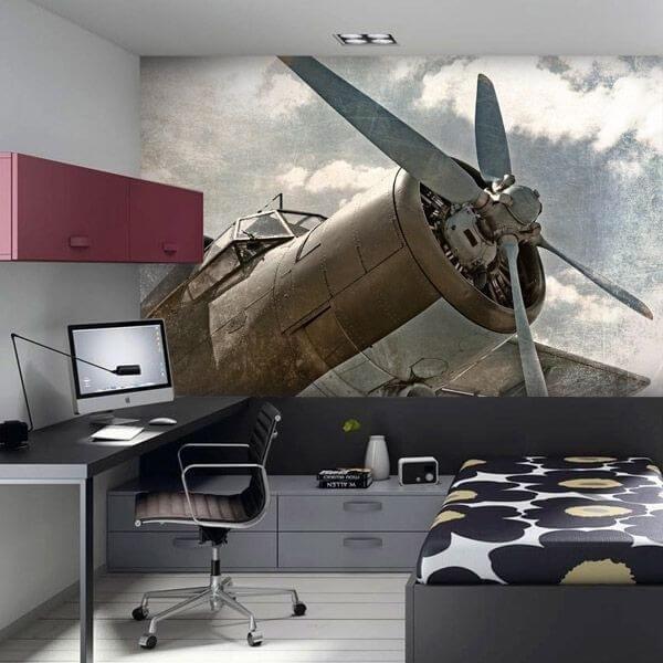 Fotomural de avión antiguo