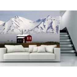 Fotomural de casa en los Alpes