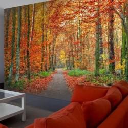 Mural de pared floresta Otoño