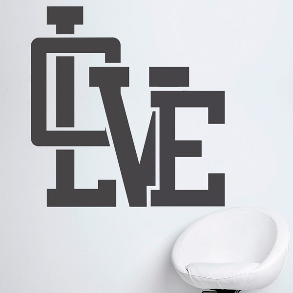 Adhesivo de pared love
